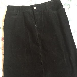 Dresses & Skirts - Skirt, Black, Corduroy.